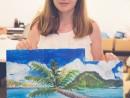 Scoala de Vara Pictura Acrilic pe panza Peisaj marina Triptic Ioana V 130x98 Scoala de Vara, 2017 – Galerie Foto