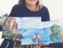 Scoala de Vara Pictura Acrilic pe panza Peisaj marina Triptic Lera 130x98 Scoala de Vara, 2017 – Galerie Foto