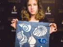 Scoala de Vara Pictura in culori textile Sacosa pictata Miruna1 130x98 Scoala de Vara, 2017 – Galerie Foto