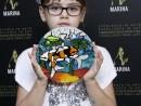 Scoala de vara Arte decorative Culori vitraliu pe sticla Platou decorat Briana 130x98 Scoala de Vara, 2017 – Galerie Foto