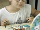 Scoala de vara Arte decorative Culori vitraliu pe sticla Platou decorat Briana1 130x98 Scoala de Vara, 2017 – Galerie Foto