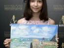 Scoala de varaPictura Acrilic pe Panza Peisaj marin Reproducere Monet Thaisia 130x98 Scoala de Vara, 2017 – Galerie Foto