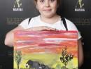 Scoala De Vara Pictura Acrilic pe panza Peisaj Savana Ayana 130x98 Scoala de Vara, 2018 – Galerie Foto