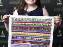 Scoala de Vara Arte Decorative Pictura in culori textile Servete pictat Ayana 130x98 Scoala de Vara, 2018 – Galerie Foto