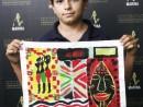 Scoala de Vara Arte Decorative Pictura in culori textile Servete pictat Radu 130x98 Scoala de Vara, 2018 – Galerie Foto