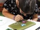 Scoala de Vara Atelier Arte Decorative Culori textile pe piele Poseta Pictata Andra 130x98 Scoala de Vara, 2018 – Galerie Foto