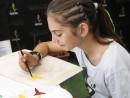 Scoala de Vara Atelier Arte Decorative Culori textile tema carnaval Sacosa Pictata Anastasia 1 130x98 Scoala de Vara, 2018 – Galerie Foto