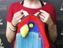 Scoala de Vara Atelier Design Vestimentar Cusut si decorat Rucsac Papagal Briana 130x98 Scoala de Vara, 2018 – Galerie Foto