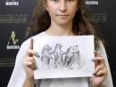 Scoala de Vara Grafica Gravura Tehnica ac rece Urs Maria2 130x98 Scoala de Vara, 2018 – Galerie Foto