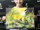 Scoala de Vara Pictura Acrilic pe panza Peisaj Jungla Amazoniana Anastasia 130x98 Scoala de Vara, 2018 – Galerie Foto