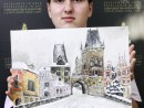 Scoala de Vara Pictura Acrilic pe panza Peisaj Praga Columb 130x98 Scoala de Vara, 2018 – Galerie Foto
